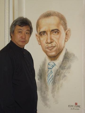 張可可畫作《孫中山》獲選  中國美術館展出