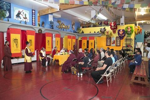 金刚法王梵文书法作品世界巡展走进维加斯