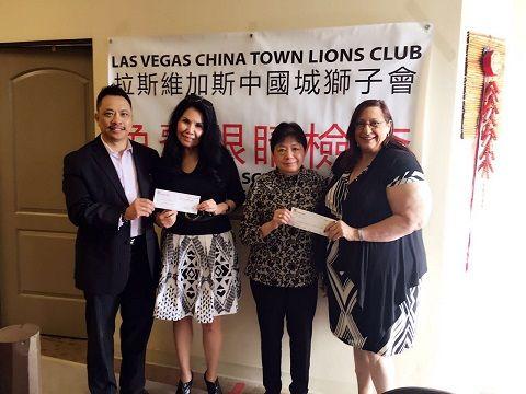 中國城獅子會年會節餘捐贈愛盲等團體