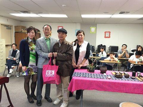 茶藝文化協會為慈濟學生演示茶藝