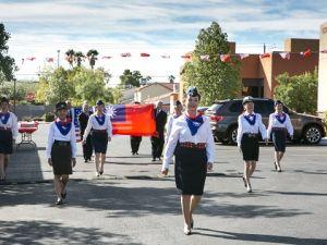 維加斯臺聯會舉行國慶升旗典禮