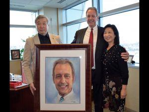 畫家張可可贈北拉斯維加斯市長畫像