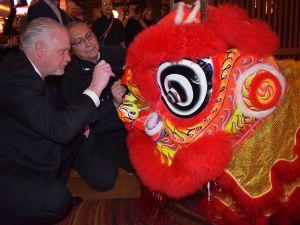 红石赌场醒狮贺岁欢庆中国新年